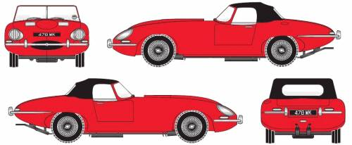 Jaguar E-Type S1 Roadster (1961)