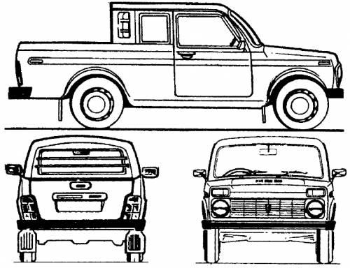 Lada Niva 4x4 Pick-up Crew Cab (2008)