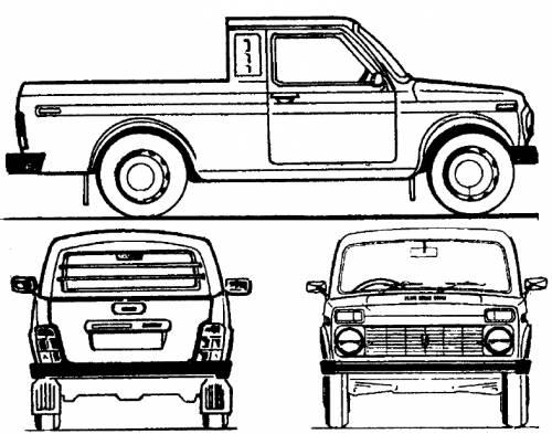 Lada Niva 4x4 Pick-up LWB (2008)