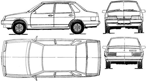 Lada Samara 4-Door VAZ-21099