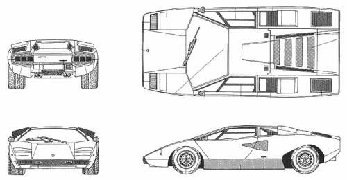 Lamborghini Countach LP400 White Red