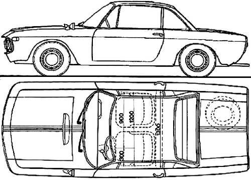 Lancia Fulvia Coupe Rallye 1.3HF (1967)