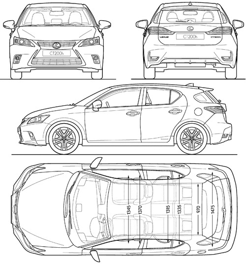 blueprints gt cars gt lexus gt lexus ct 200h 2014