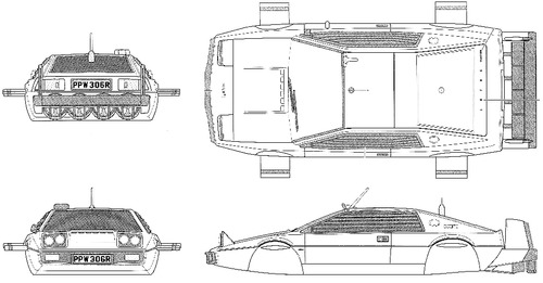 Lotus Esprit S1 Bond Car-Submarine (007 The Spy Who Loved Me)