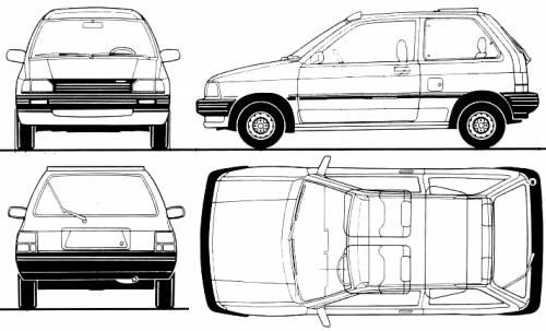 Mazda 121 3-Door (1988)
