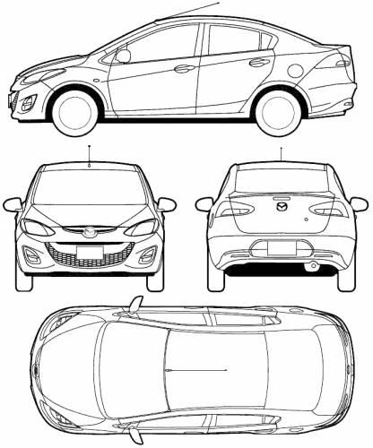 Mazda 2 Sedan (2010)