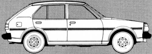 Mazda 323 1300 DL 5-Door 1980