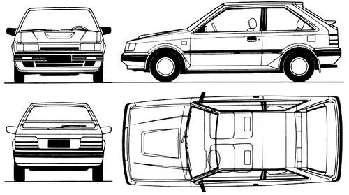 Mazda 323 3-Door (1986)
