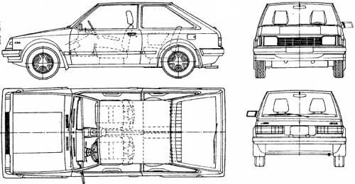 Mazda 323 3-Door (1987)