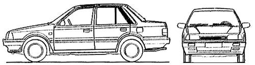 Mazda 323 4-Door (1988)