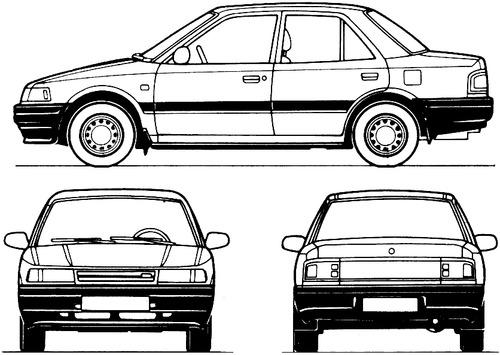 Mazda 323 4-Door (1989)