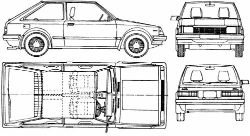 Mazda 323 Familia 3-Door (1987)