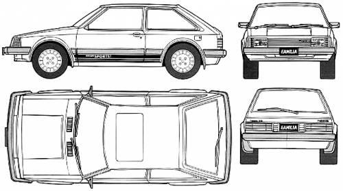 Mazda 323 Familia XG 3-Door (1980)