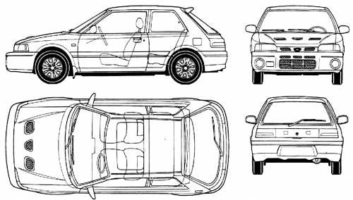 Mazda 323 GTR (1992)