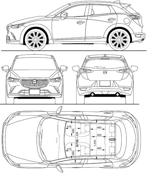 The-Blueprints.com - Blueprints > Cars > Mazda > Mazda CX-3 (2015)