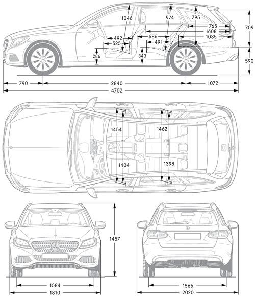 Dimensions De Mercedes Classe C