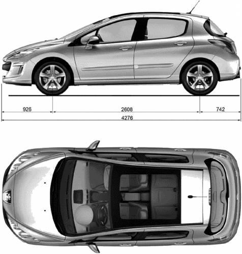 Blueprints > Cars > Peugeot > Peugeot 308 (2008