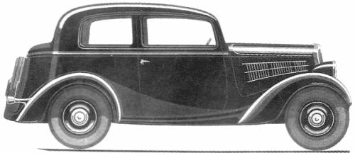 Simca 6 2-Door Berline (1936)