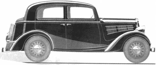 Simca 6 4-Door Berline (1936)