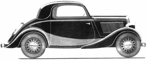 Simca 6 Faux Cabriolet (1936)
