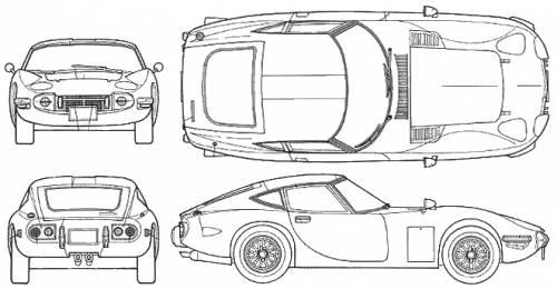 Blueprints Gt Cars Gt Toyota Gt Toyota 2000 Gt