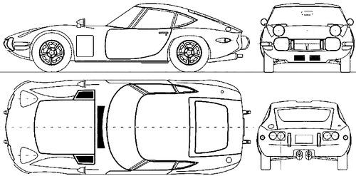 Blueprints Gt Cars Gt Toyota Gt Toyota 2000gt 1967
