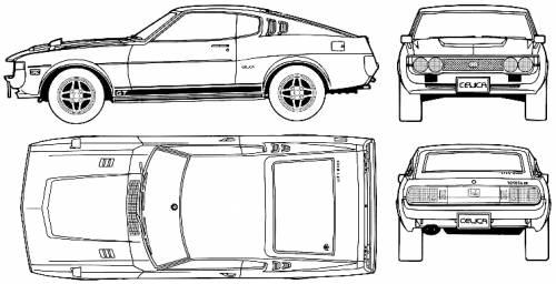 Blueprints Gt Cars Gt Toyota Gt Toyota Celica Liftback 2000gt