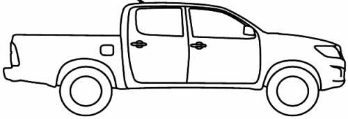 Free Hilux Blueprints: Blueprints > Cars > Toyota > Toyota Hilux AU (2012