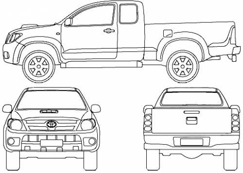 Free Hilux Blueprints: Blueprints > Cars > Toyota > Toyota Hilux Crew Cab (2007