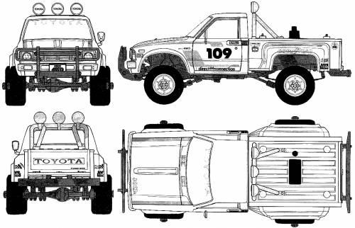 Free Hilux Blueprints: Blueprints > Cars > Toyota > Toyota Hilux Pickup 4x4