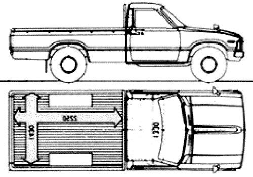 Free Hilux Blueprints: Blueprints > Cars > Toyota > Toyota Hilux SC (1984