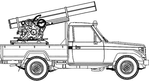 Toyota Land Cruiser Quad Rocket Launcher