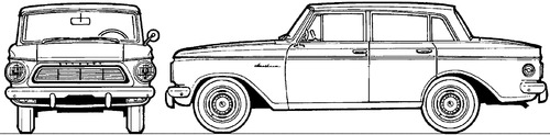 AMC Rambler American DeLuxe 4-Door Sedan (1962)