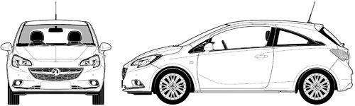 Vauxhall Corsa E 3-Door (2015)