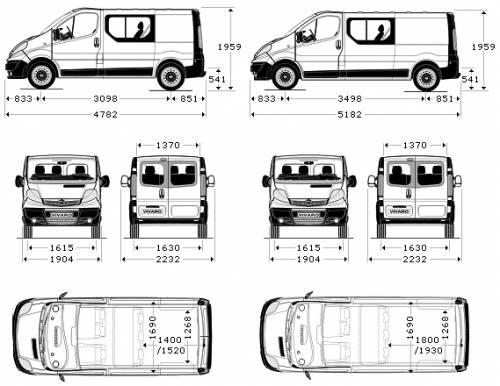 Vauxhall-Opel Vivaro Double Cab
