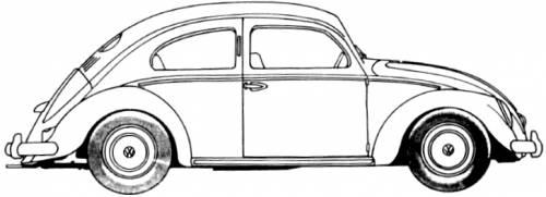 Volkswagen Beetle 1200 (1951)