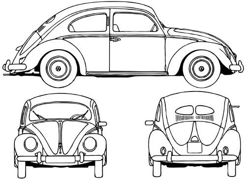 Volkswagen Beetle 1200 (1952)