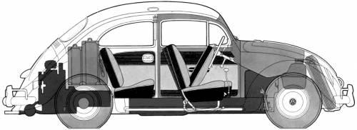 Volkswagen Beetle 1200 (1954)