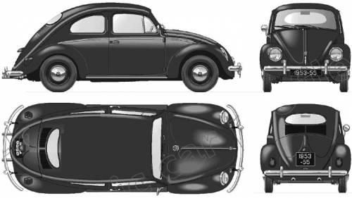 Volkswagen Beetle 1200 (1955)