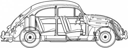 Volkswagen Beetle 1200 (1964)
