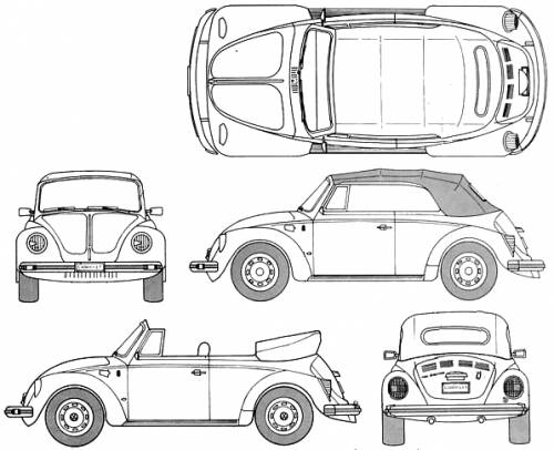 Volkswagen_beetle_1303_ls_convertible_%281979%29 on Volkswagen Beetle Drawing