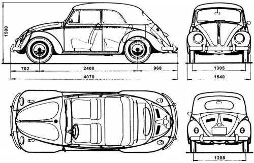 Volkswagen Beetle Cabrio 1500