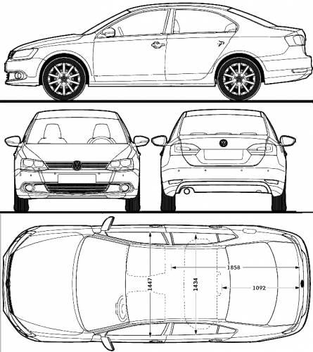 Blueprints > Cars > Volkswagen > Volkswagen Jetta Mk.VI (2011)
