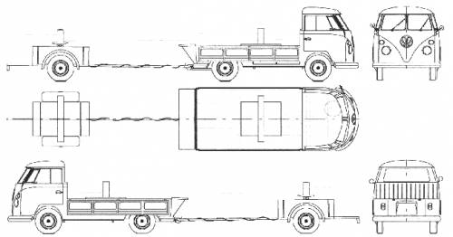 Volkswagen Pick-up + Trailer 1963-1967