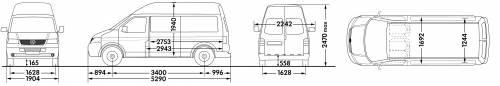 Volkswagen Transporter Panel Van LWB High Roof