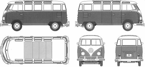 Volkswagen Type 2 Micro Bus 23-Window (1967)