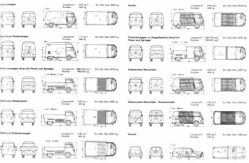Volkswagen Type 2 (Split), Type 3 (Squareback)