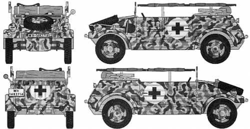 Volkswagen Type 82 Kubelwagen Ambulance
