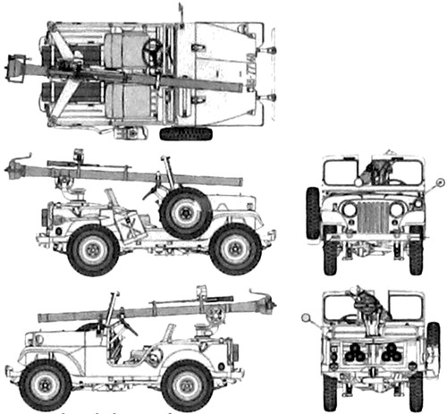 Willlys Jeep M38A1 + 106nn M40 RCG