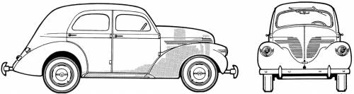 Willys 37 DeLuxe Sedan (1937)